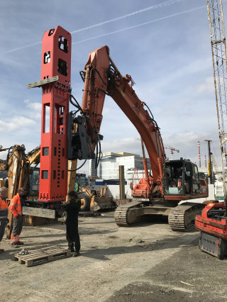 EFFICIENT COMPLETION OF SHEET PILING WORKS