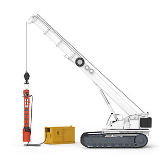 RIG- AND CRANE-MOUNTED PILING HAMMERS